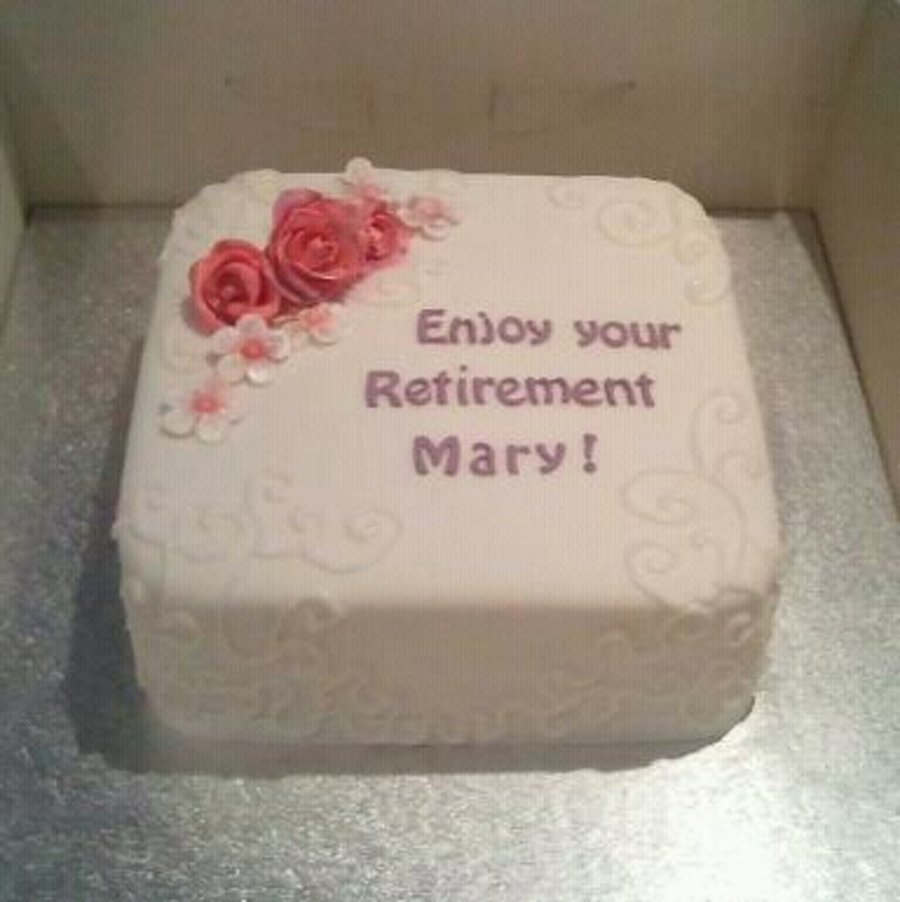 Mary's Retirement Cake  on Cake Central
