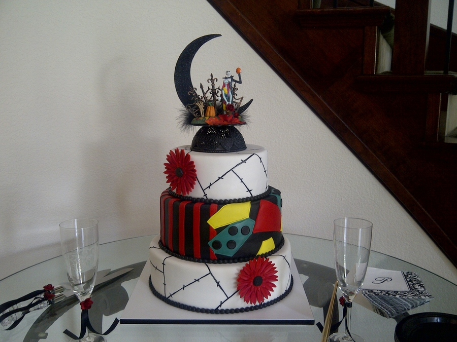 Nightmare Before Christmas Wedding on Cake Central