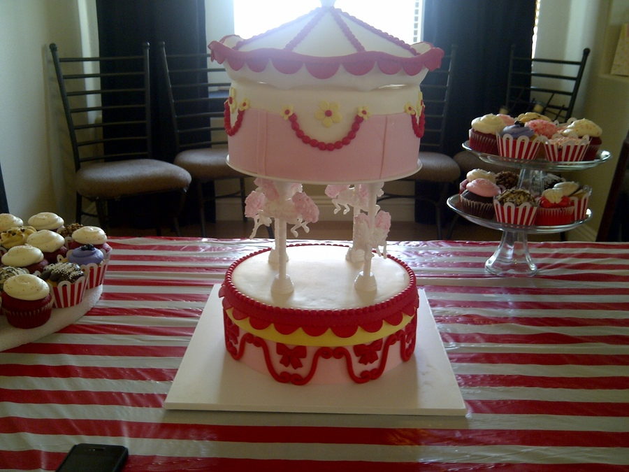 Baby Shower Carousel Cake on Cake Central