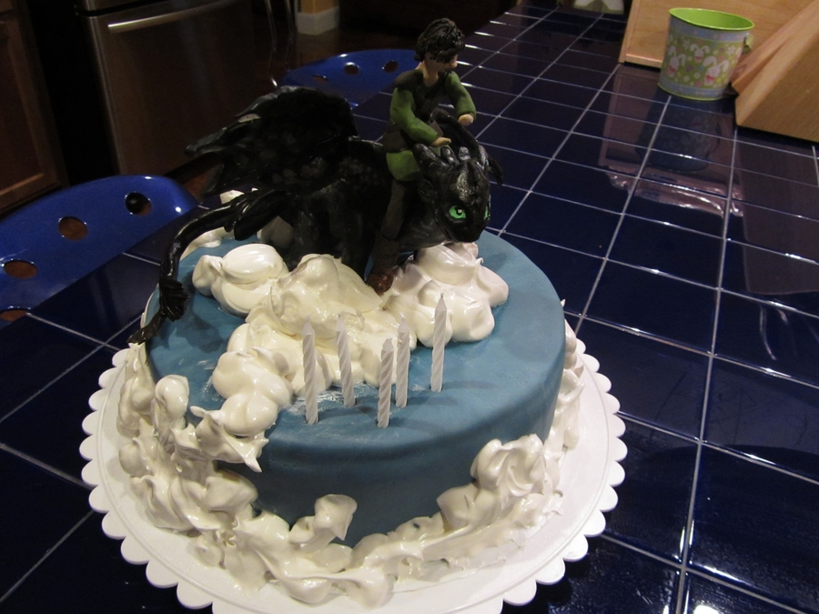 How To Train Your Dragon Toothless Cake on Cake Central