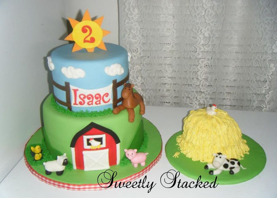 Farm Theme Cake Amp Smash Cake on Cake Central