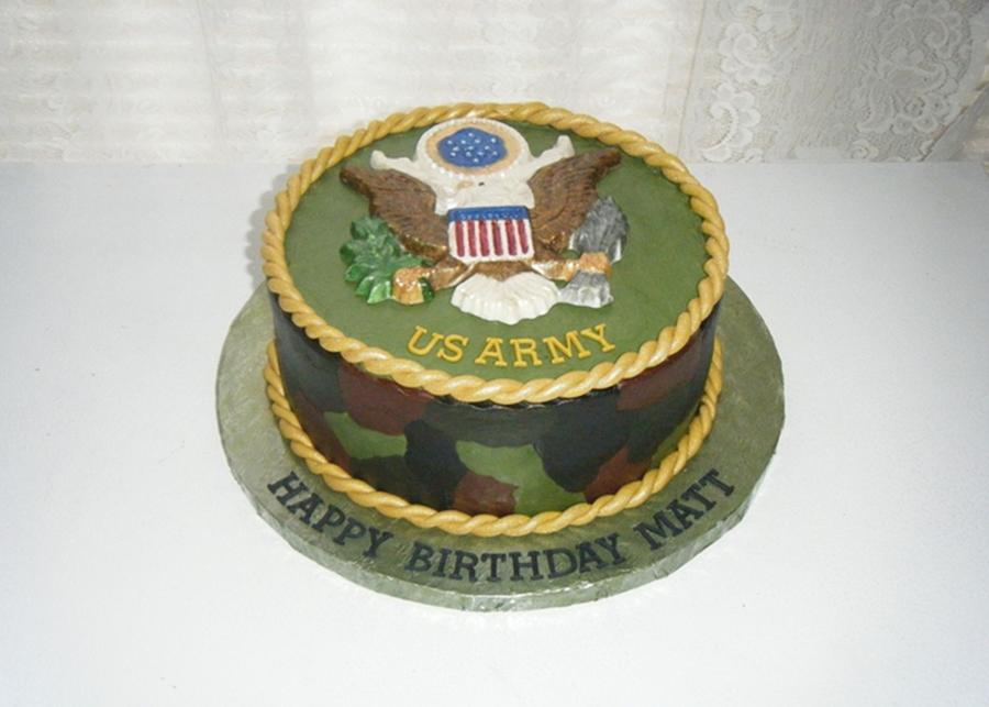 Army Birthday Cake CakeCentralcom