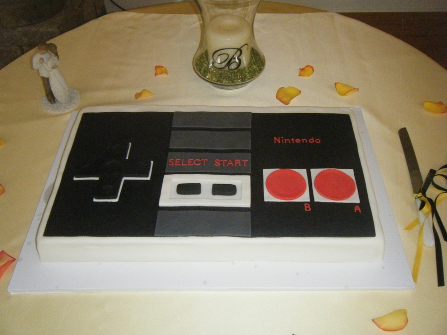 Nintendo Controller Groom's Cake on Cake Central
