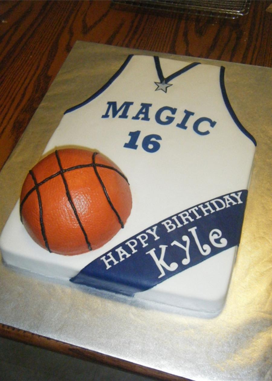 Orlando Magic Basketball Jersey Cake Cakecentral Com