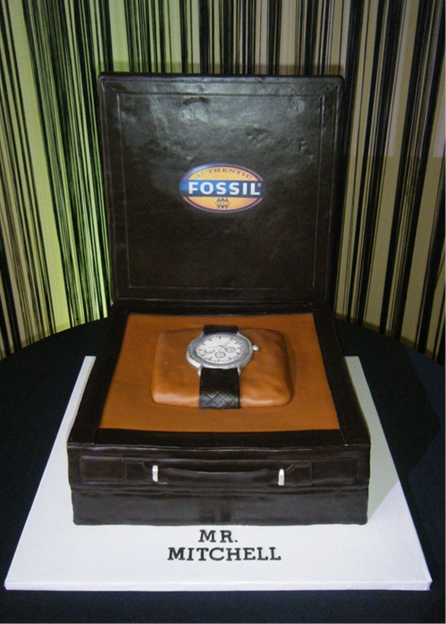 Fossil Brand Watch Grooms Cake on Cake Central