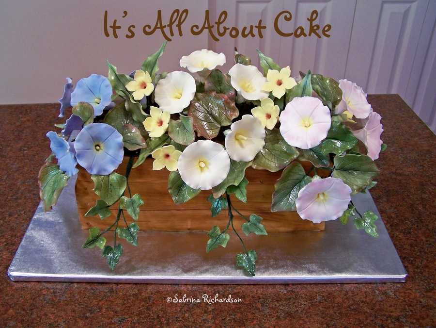 Morning Glories In A Flower Box Cake on Cake Central