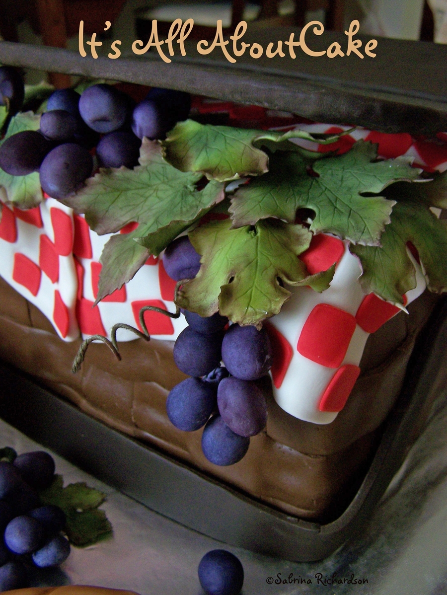 Picnic Basket Cake on Cake Central
