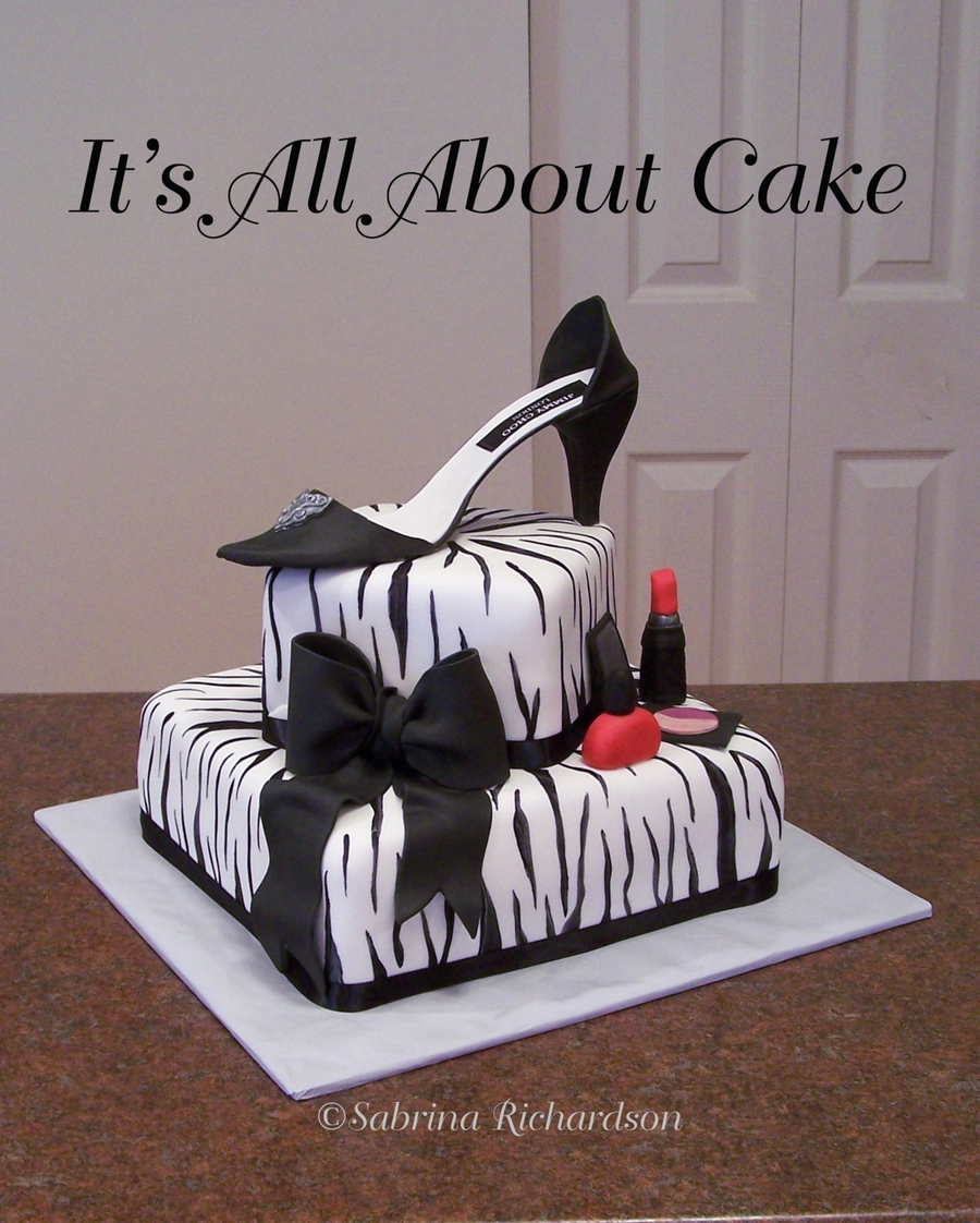 Zebra Print With Sugar Shoe on Cake Central