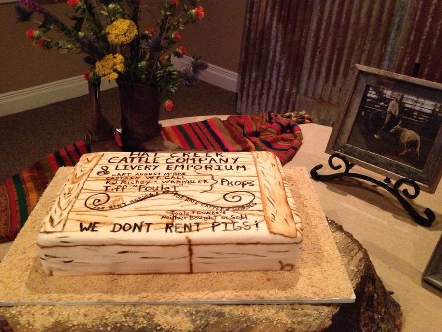 Lonesome Dove Sign on Cake Central