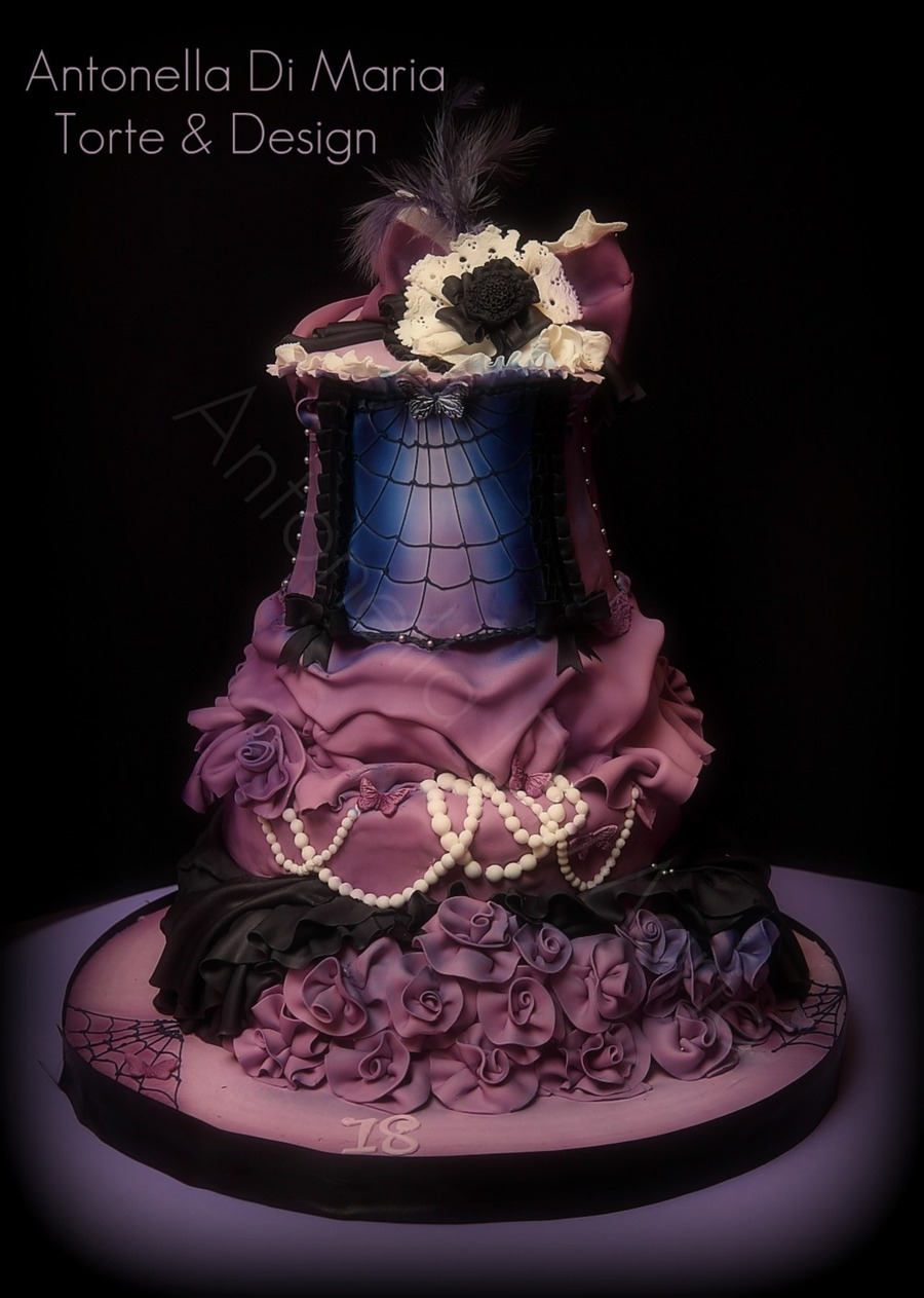Remarkable Burlesque Halloween Birthday Cake Cakecentral Com Personalised Birthday Cards Petedlily Jamesorg