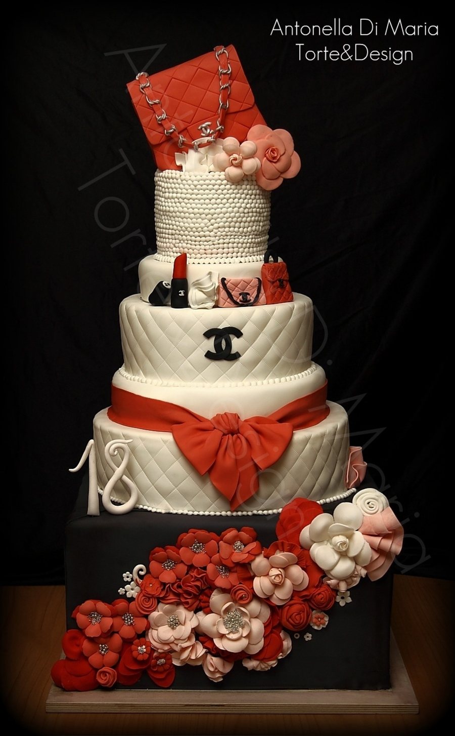 Cc Coral Fashion Cake  on Cake Central