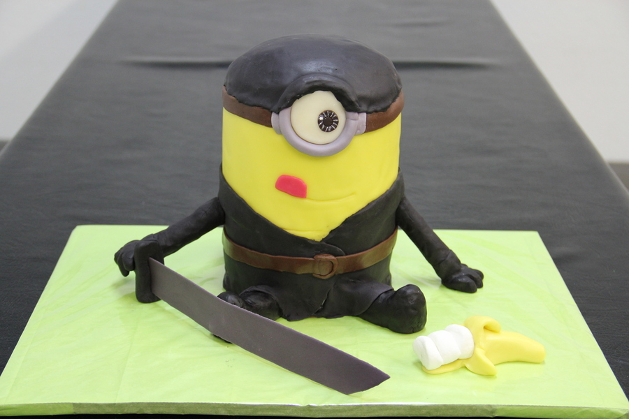Minion Rush Ninja Cake For My 7 Year Olds Birthday CakeCentralcom