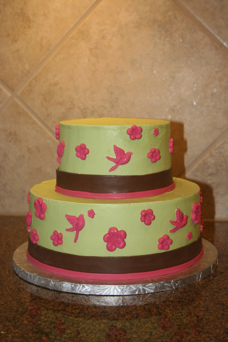 Flowers And Birds on Cake Central