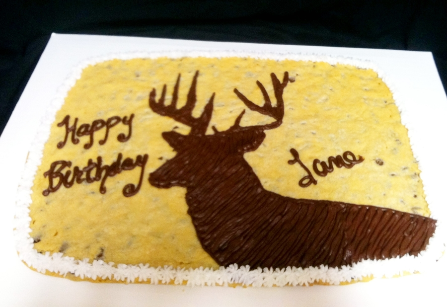 Deer Cookie Cake on Cake Central