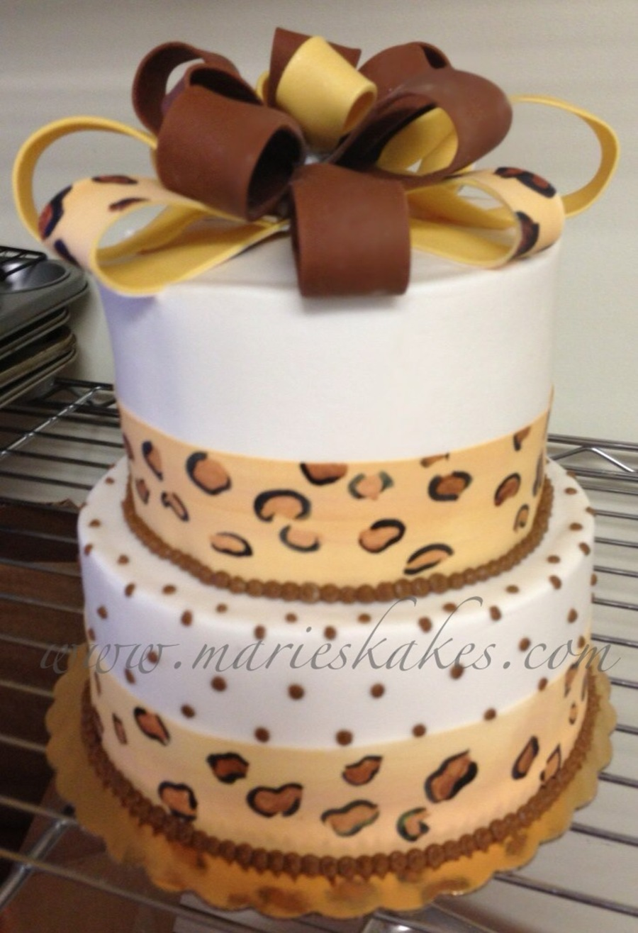 Leopard Pint Cake  on Cake Central