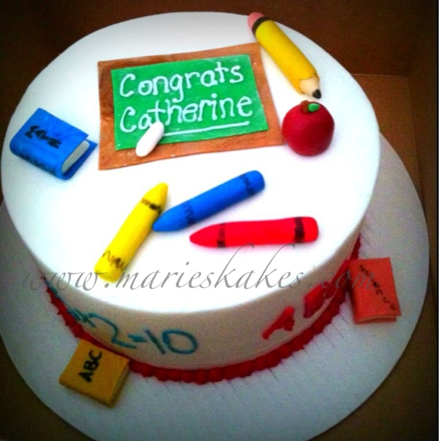 Student Teacher Graduation Cake on Cake Central