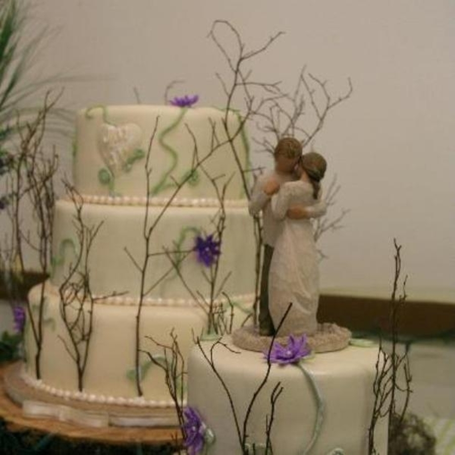 Willow Tree Wedding Cake on Cake Central