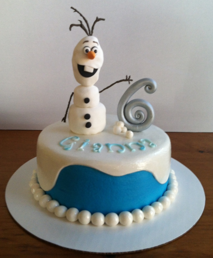 Olaf Frozen Yellow Cake Chocolate Buttercream Filling ...
