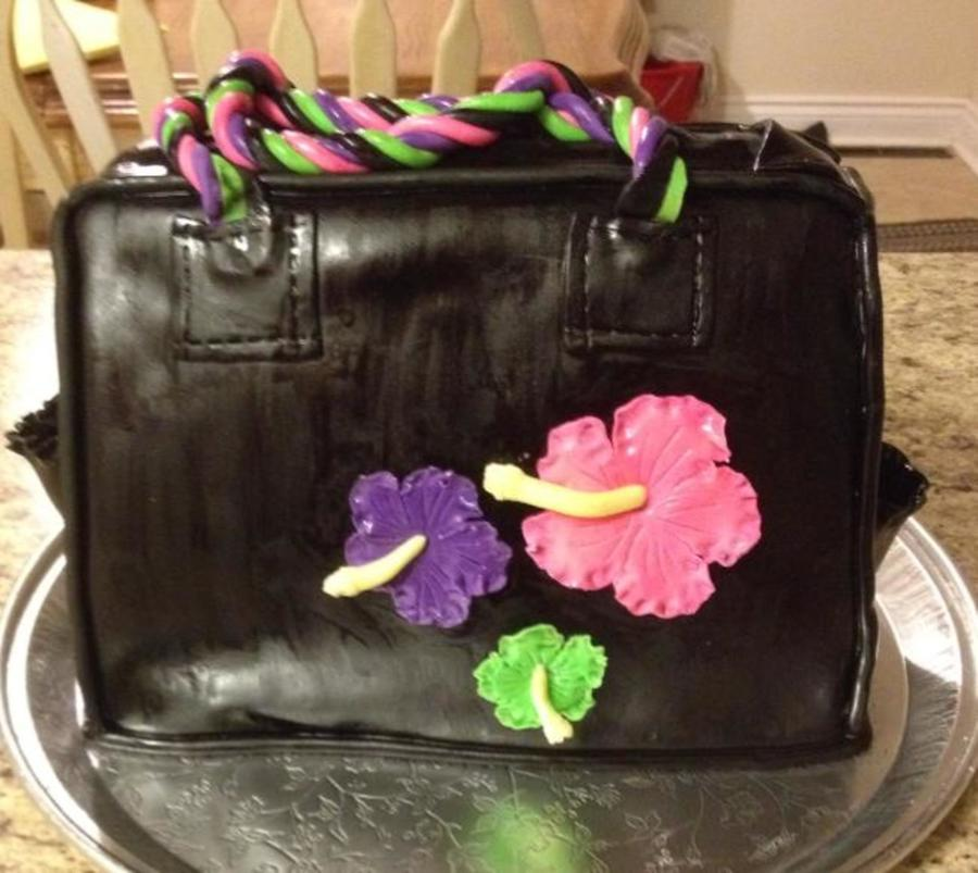 The Birthday Person Told Me Her Favourite Colours And Flowers And Told Me She Was Obsessed With Purses So This Is What I Came Up With on Cake Central