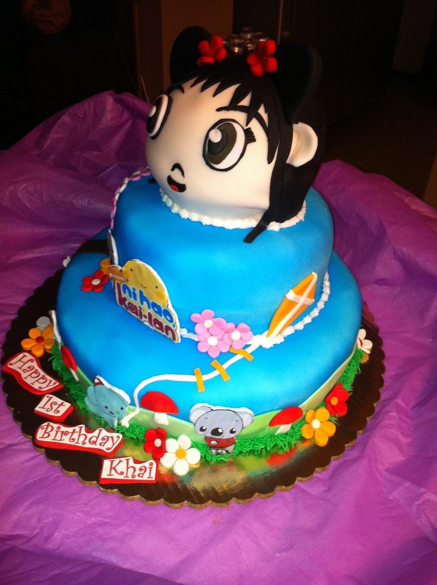 Nai Hao Kai Lan Birthday Cake Cakecentral