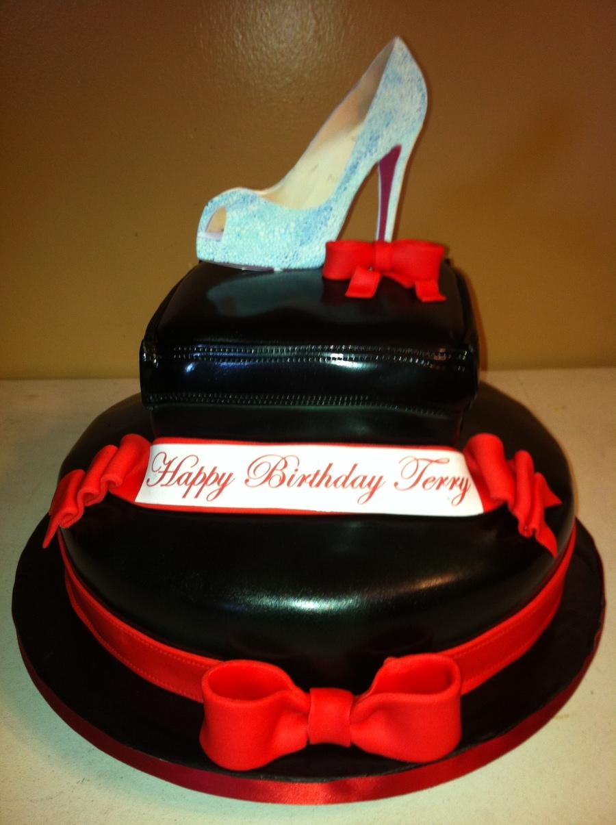 Red Black Christian Louboutin Shoe Cake CakeCentralcom