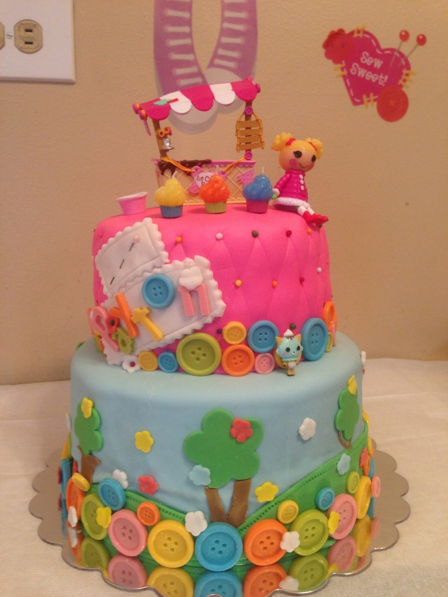 Paytons Lalaloopsy Cake Name And Buttons Are Made From