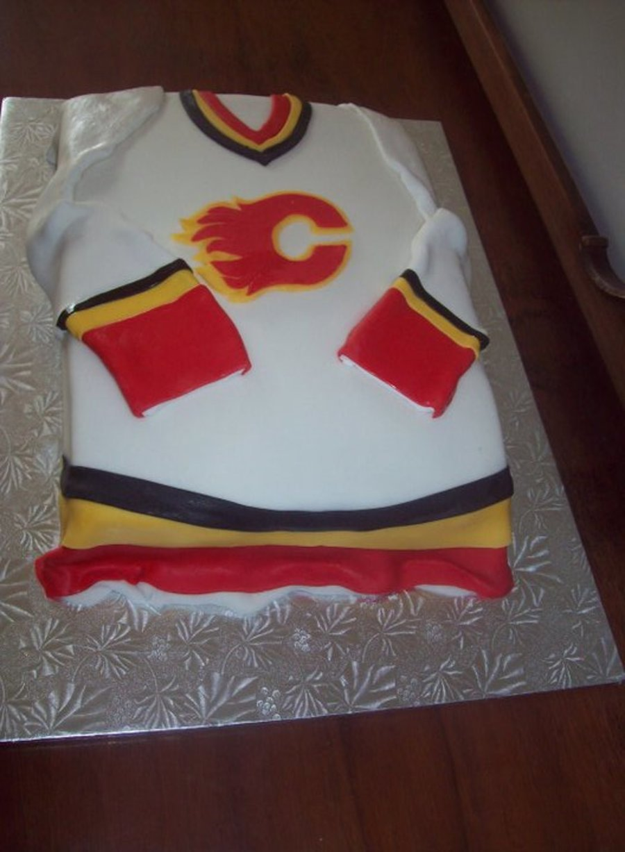 Calgary Flames Hockey Jersey Cake on Cake Central