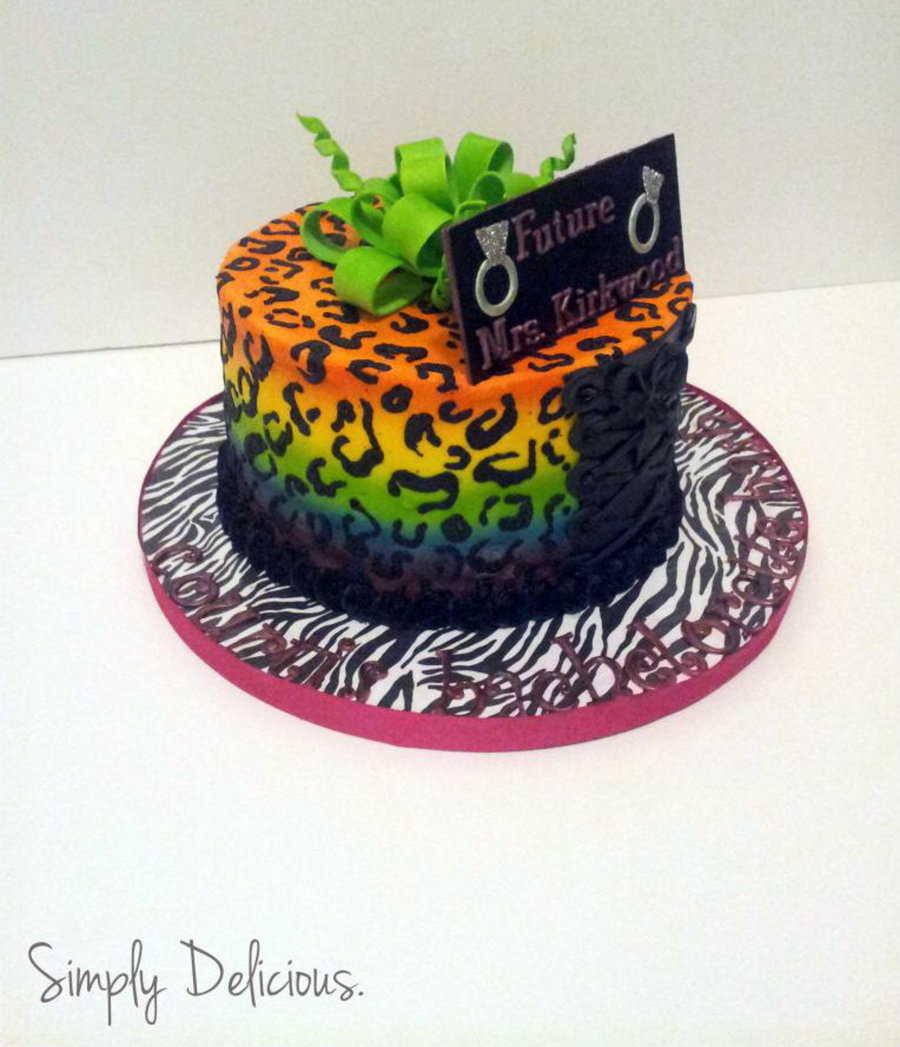 Neon Bachelorette on Cake Central