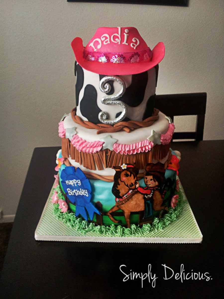 Cow Girl Themed Birthday on Cake Central