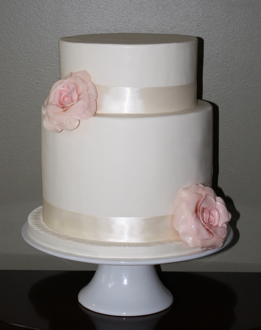 Chocolate Rose Wedding Cake on Cake Central
