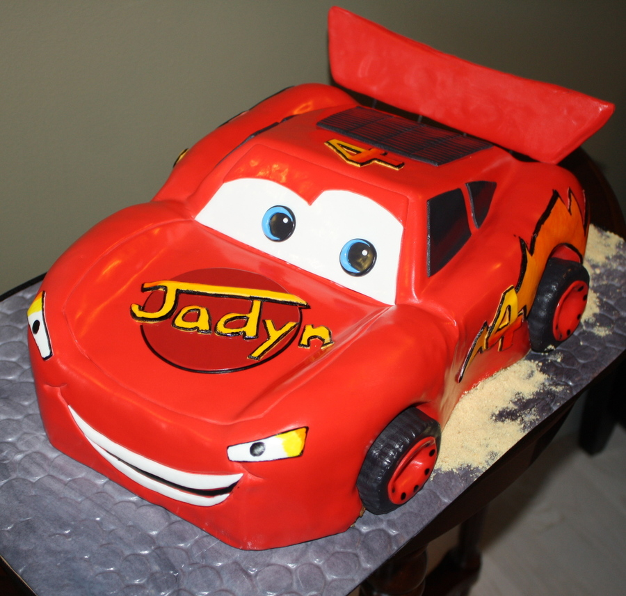 Jaydn's Lightning Mcqueen!  on Cake Central