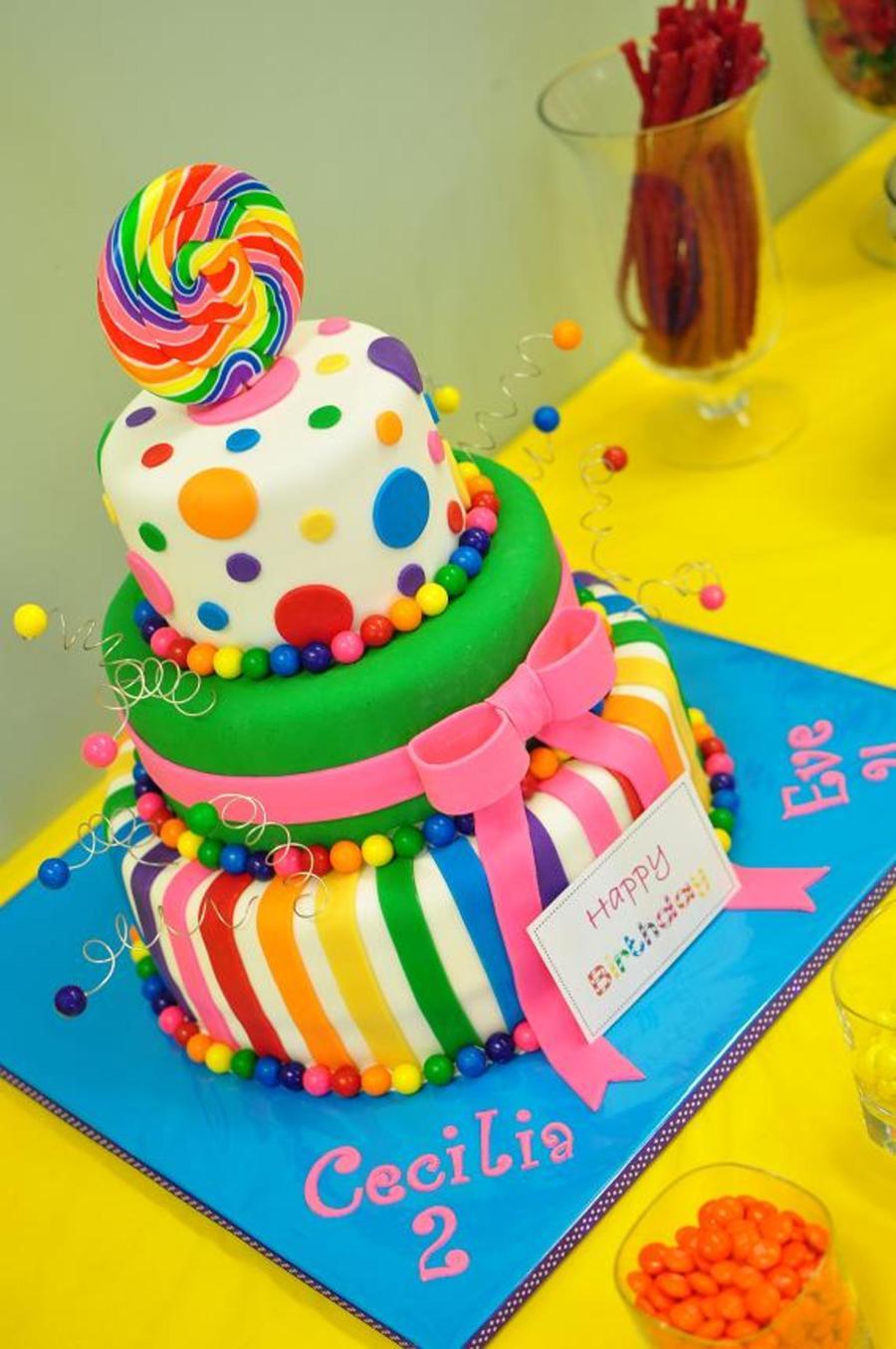 Candy Crush Themed Birthday Cake
