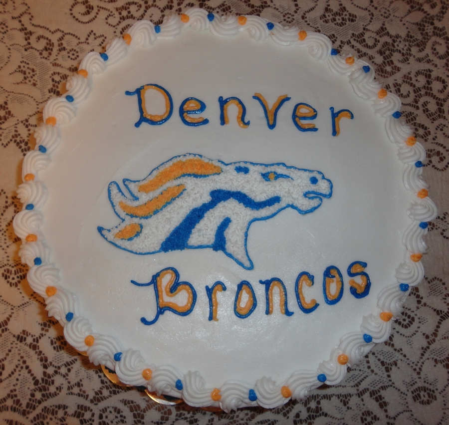 Denver Broncos Birthday Cake Cakecentral