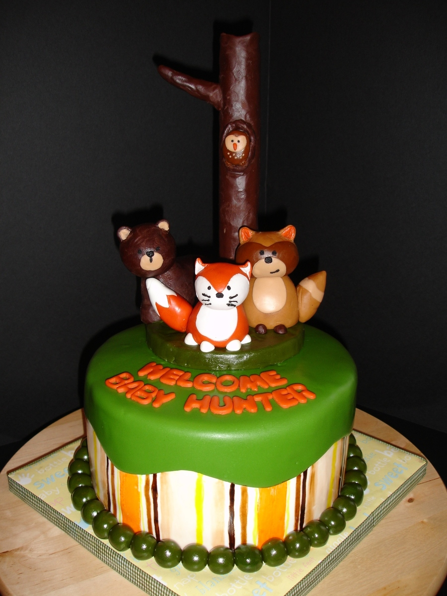 Woodland Critter Cake  on Cake Central