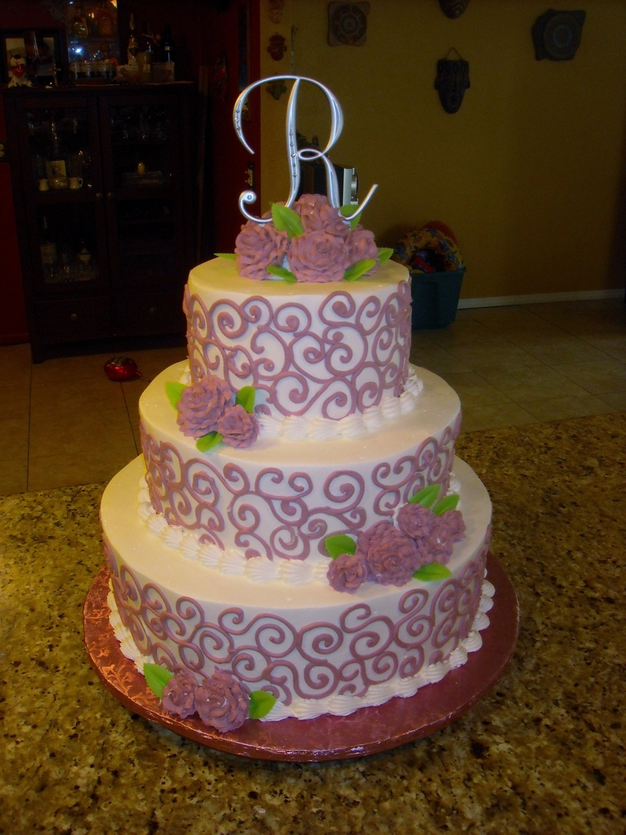 Mauve Roses on Cake Central