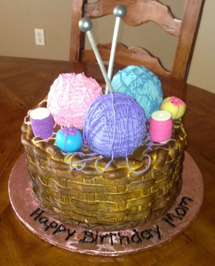 Yarn Basket Cake