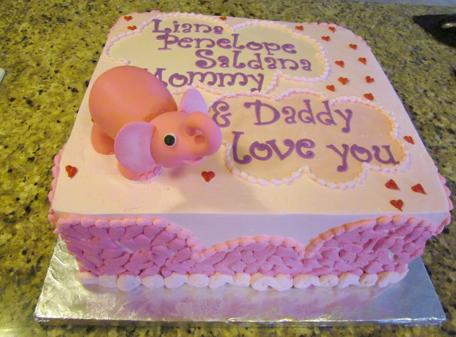 Elephant Baby Shower on Cake Central