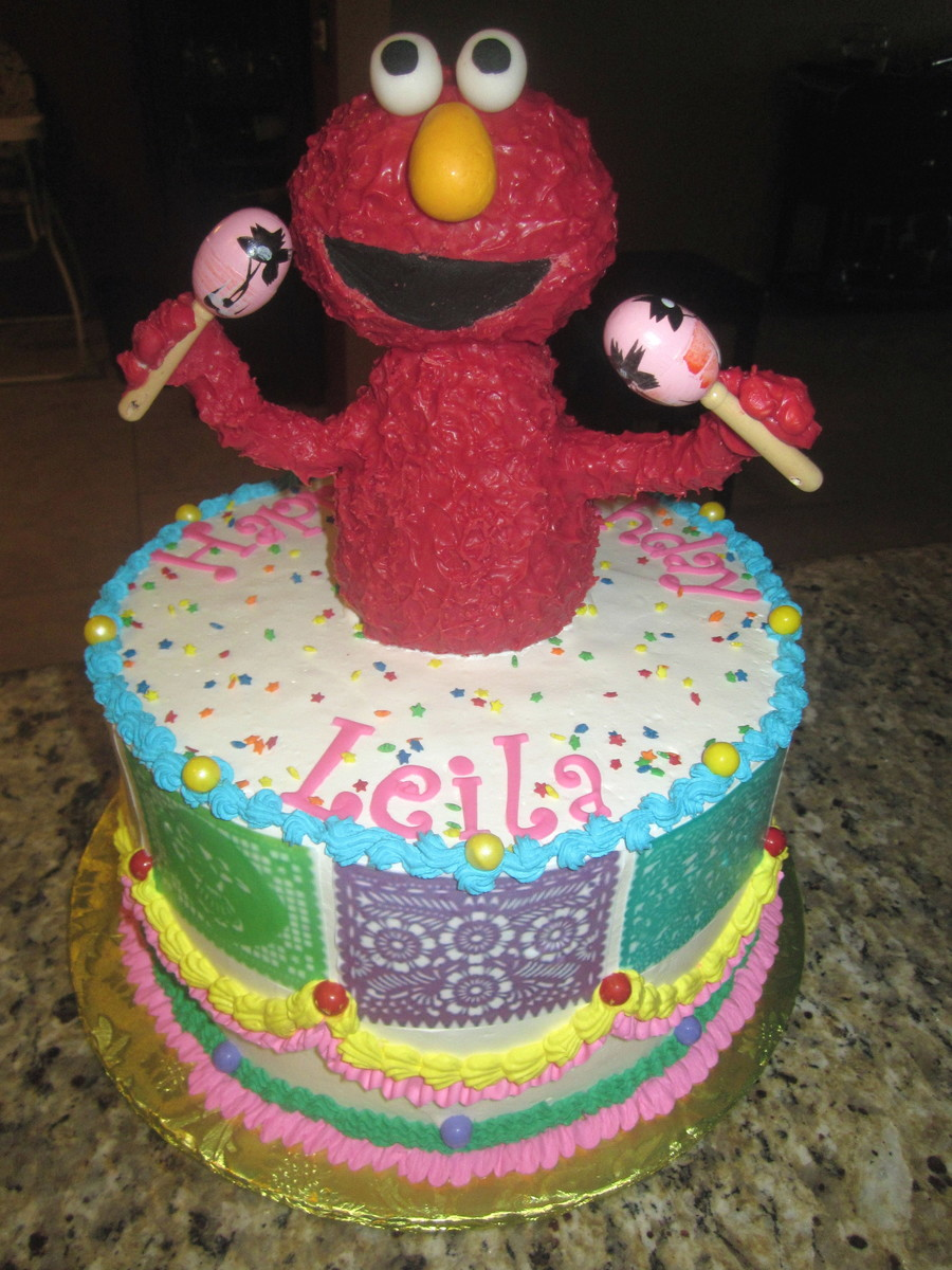 Fiesta Elmo! on Cake Central