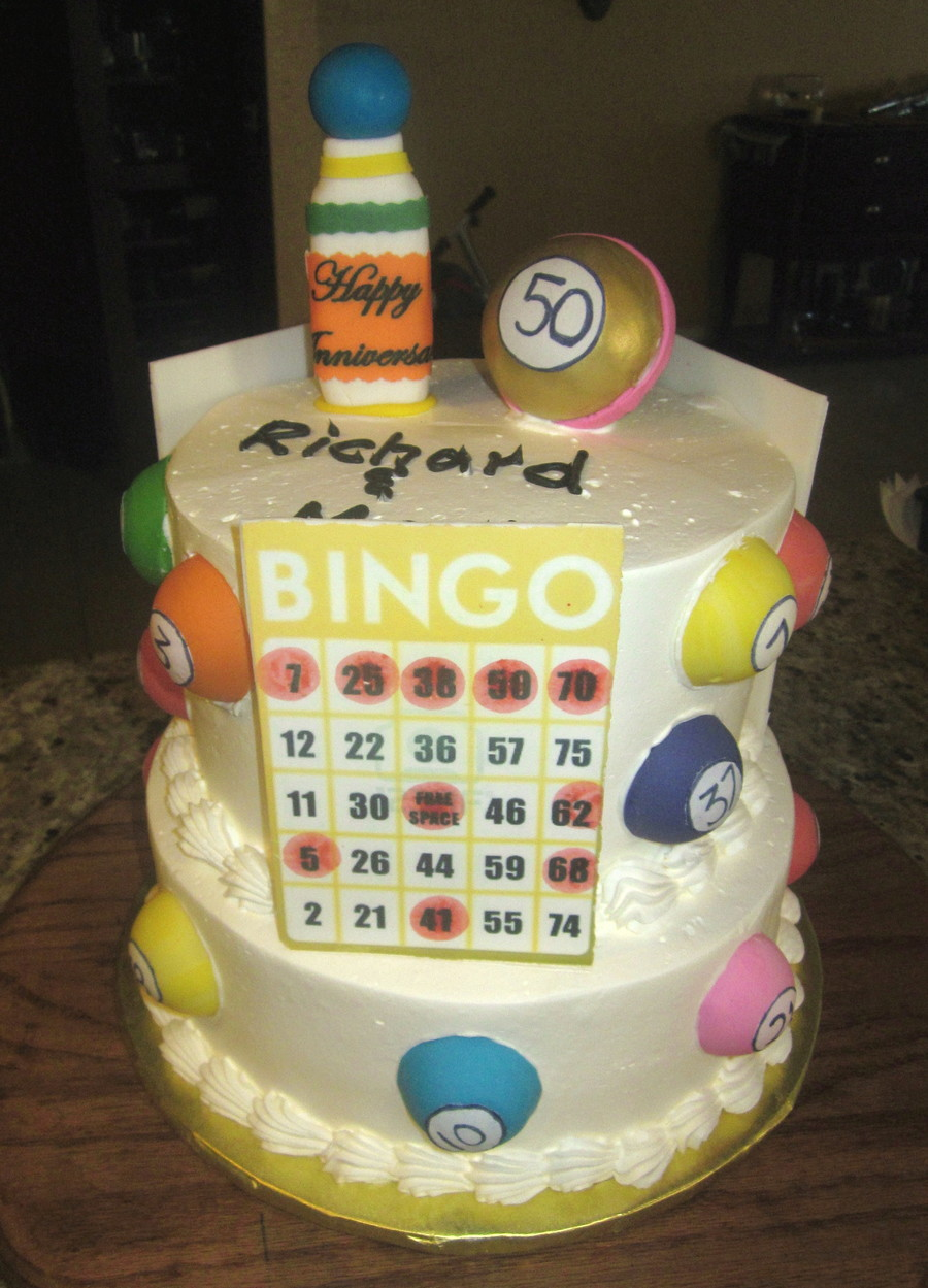 50Th Anniversary Bingo Cake on Cake Central