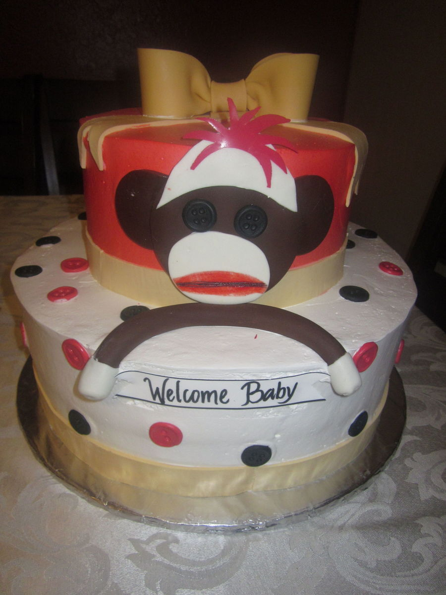 Sock Monkey Baby Shower on Cake Central