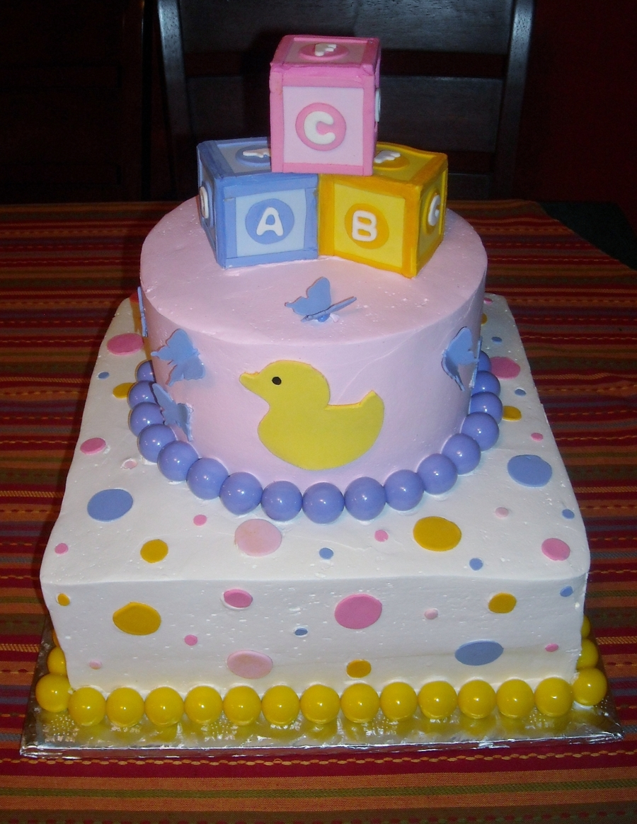 Baby Blocks & Ducks  on Cake Central