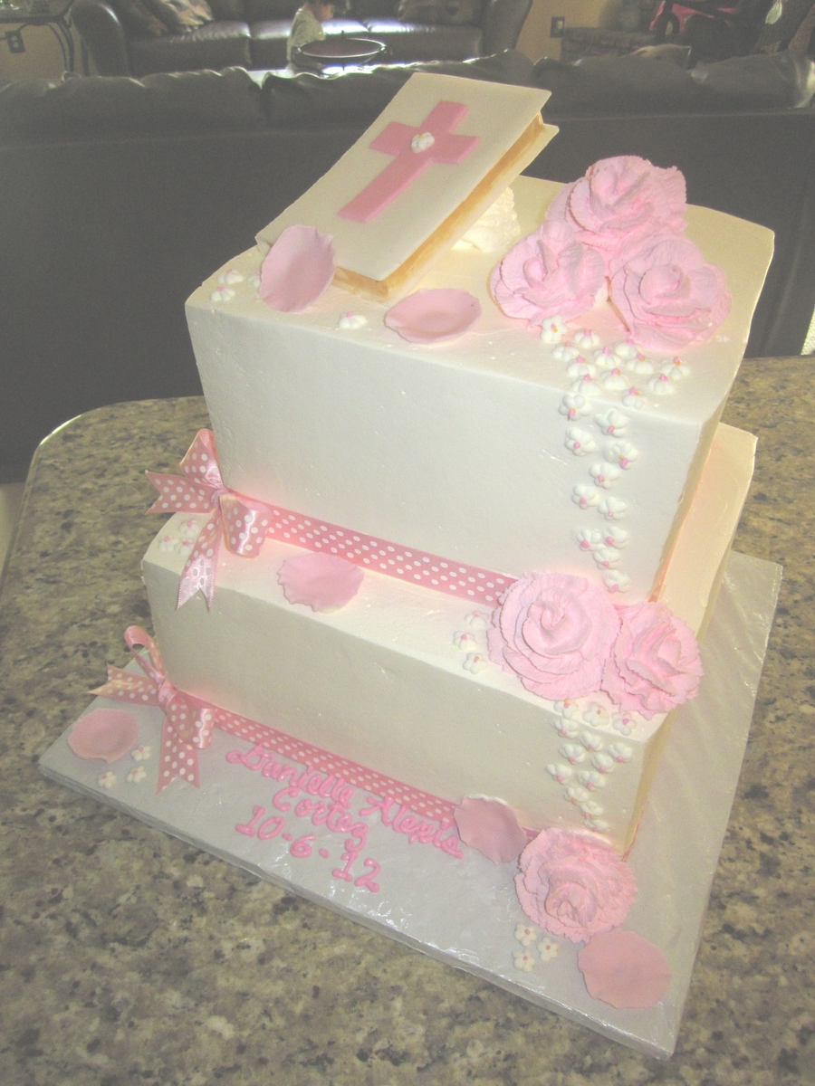 1St Communion Cake on Cake Central