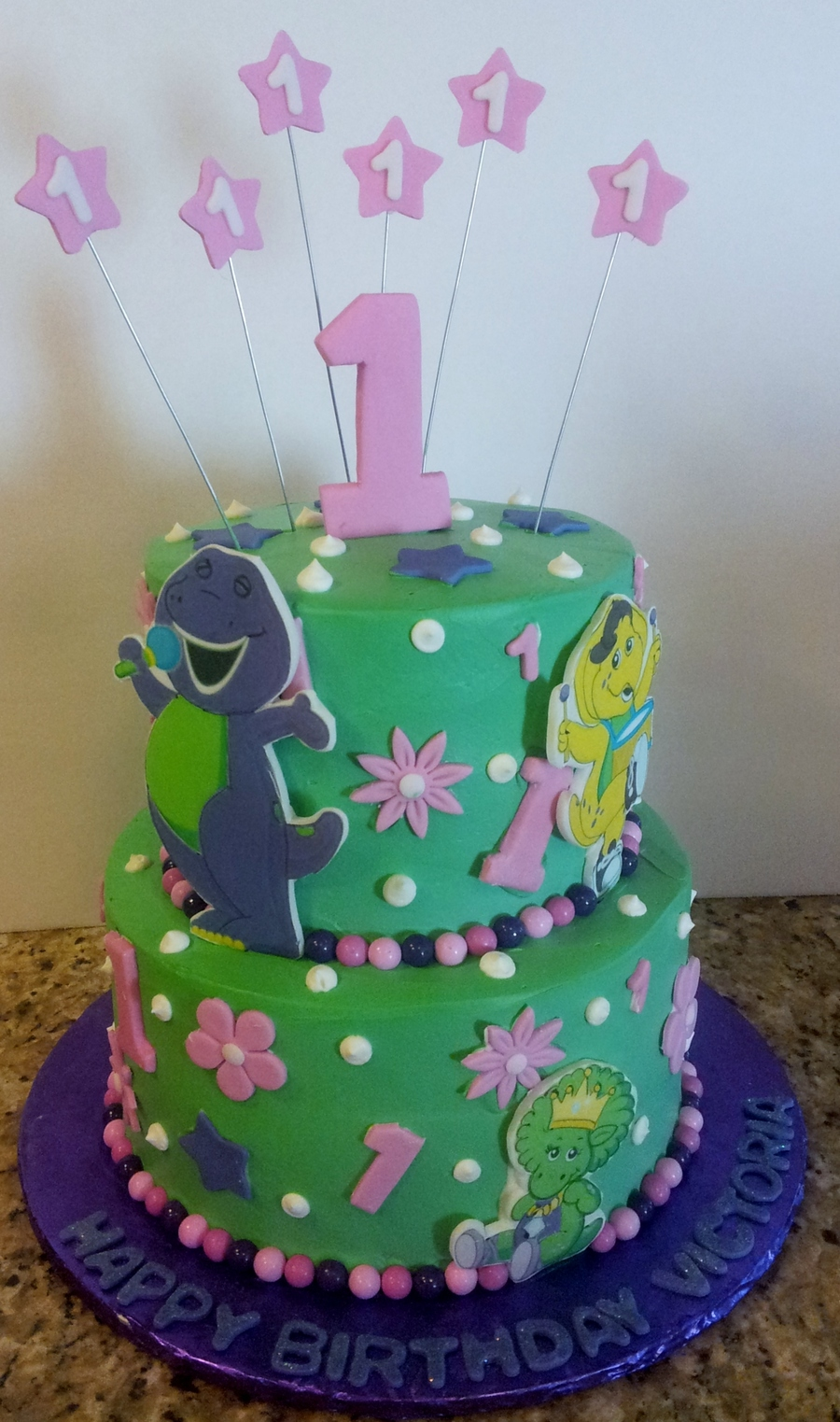 Barney, Baby Bop And Bj! on Cake Central