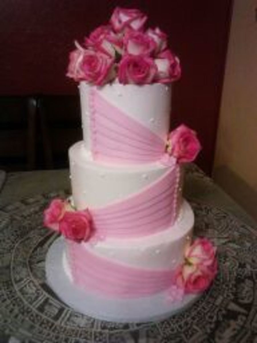 Rose Quincenera Cake on Cake Central