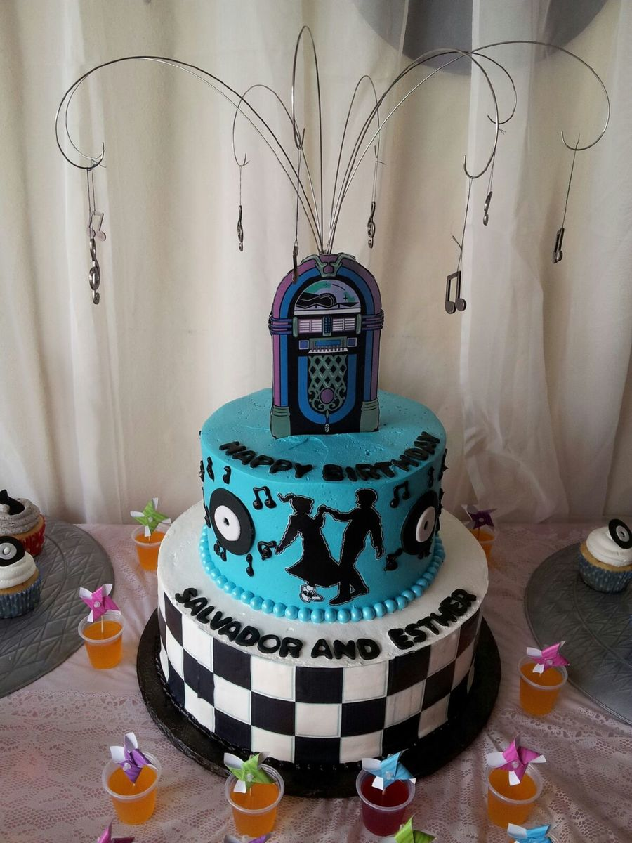 50s Themed Birthday Cake On Central