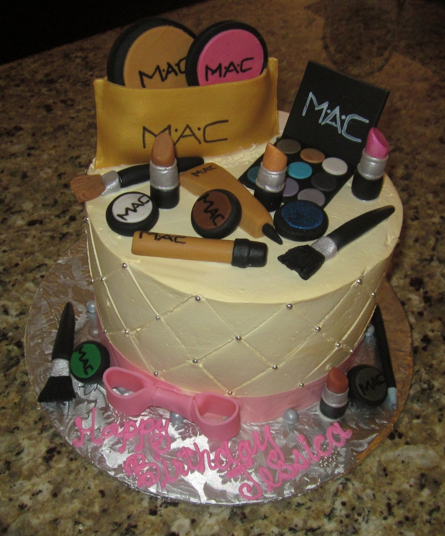 Mac Makeup Birthday Cake CakeCentralcom