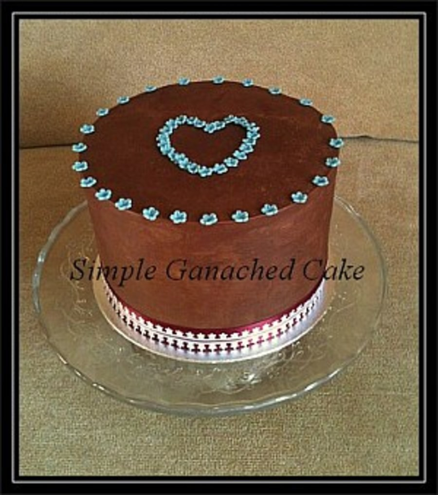 Simple Ganached Cake on Cake Central