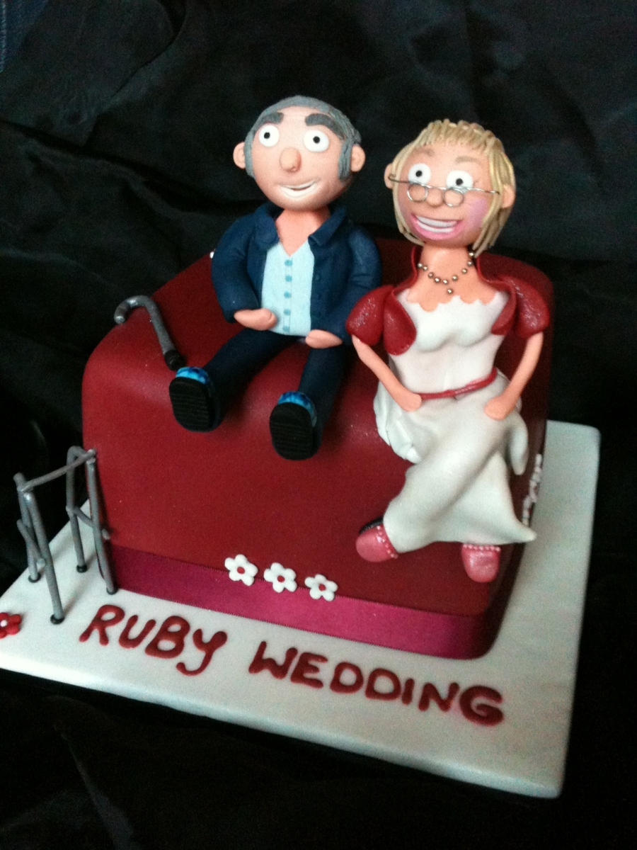 Ruby Wedding Anniversary Cake  on Cake Central