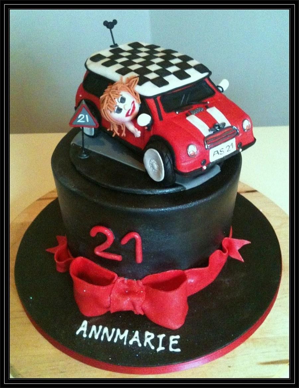 Mini Cooper Car Cake For 21St Birthday Vanilla Cake With ...
