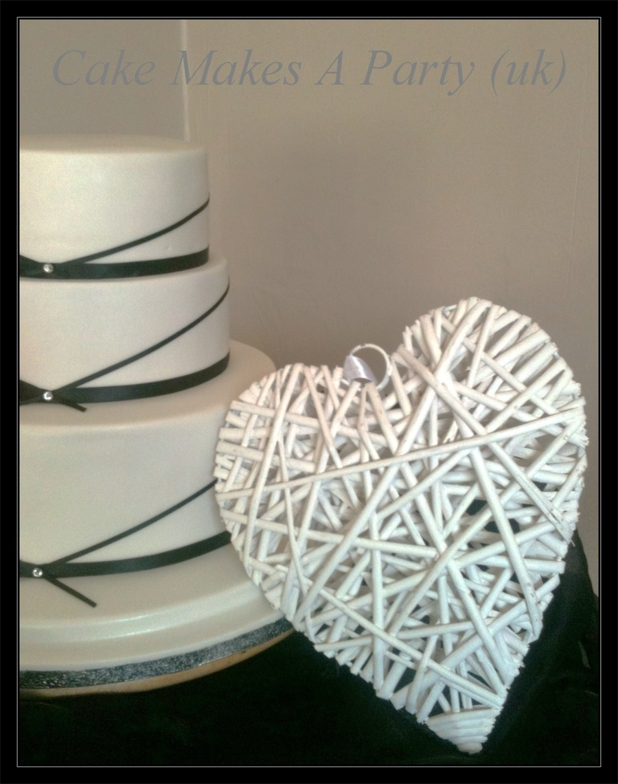 3 Tier Cake With Ribbon And Heart on Cake Central